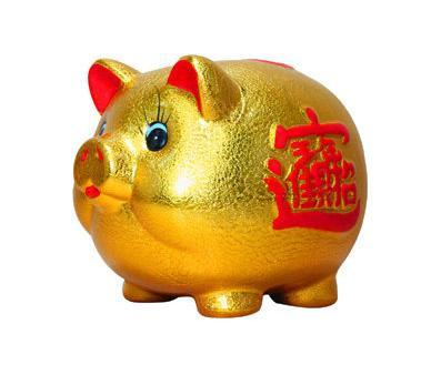 * pottery, golden pig, piggy bank, money box, money storage tank, creative children can only get out of the shop.