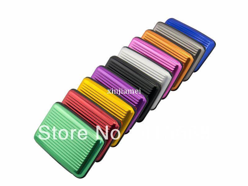 Aluma cüzdan alüminyum kart sahibinin alüminyum cüzdan satışı doğrudan fabrikadan 10 renk mevcuttur