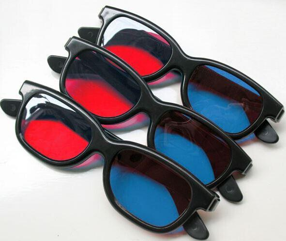 Universal type 3D glasses/Red Blue Cyan 3D glasses Anaglyph NVIDIA 3D vision Plastic glasses