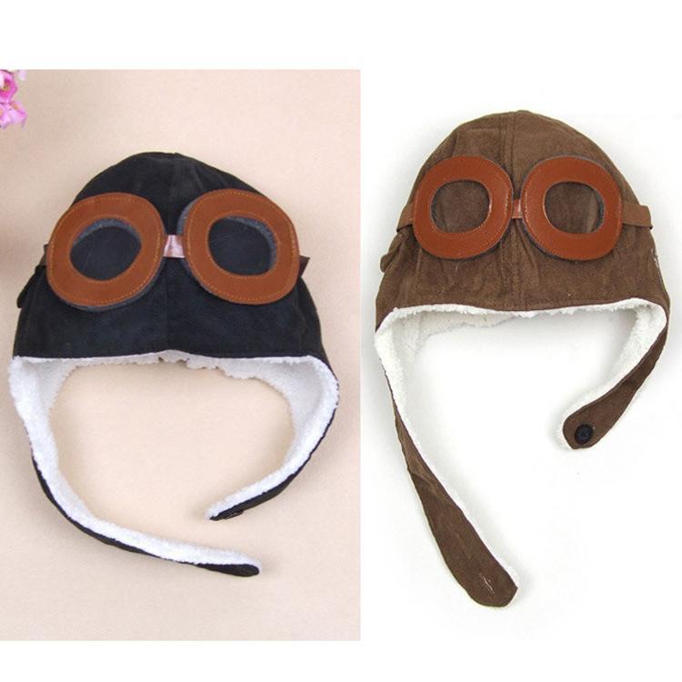 고품질의 패션 스타일리 귀여운 아기 유아 소년 소녀 키즈 파일럿 aviator 모자 따뜻한 모자 earflap beanie melee