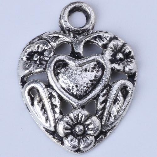 Nova moda de ouro retro amor pingente de flor fabricação diy jóias pingente fit colar ou pulseiras charme 800 pçs / lote 1322c