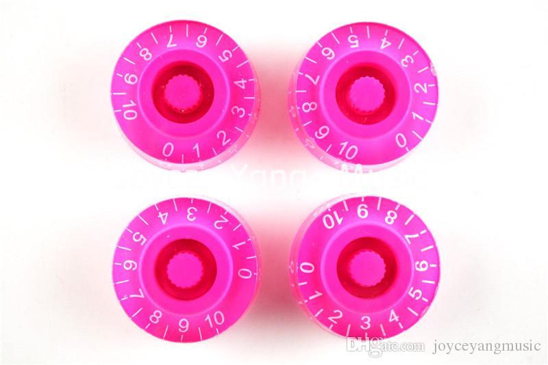 1 комплект 4шт прозрачный розовый электрогитара ручки для Гибсон LP стиль электрогитары Бесплатная доставка оптовые продажи