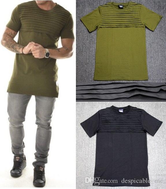 Hommes T Chemises de mode 2020 T-shirt homme Hommes Armée Vert T-shirt butin vêtements hip hop t-shirt streetwear biker T-shirts Fold style