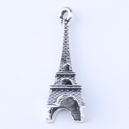 2016 DIY Antique Argent / Cuivre Alliage Paris Fer Tour Charme Pendentif Fit Bracelets Collier En Métal De Fabrication de Bijoux 500pcs / lot 1415c