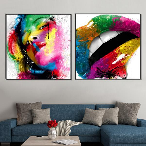 2018 Sexy Lips Canvas Painting Colorful Wall Art Poster And Print Modern  Picture For Living Room Home Decor From World_view, $8.05 | Dhgate.Com