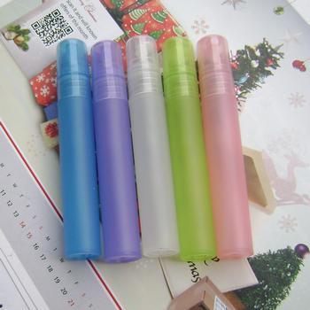 продажа 100шт 8 мл духи упаковка многоцветный, 8 мл матовый пластиковый распылитель для духов, маленький пластиковый насос распылитель