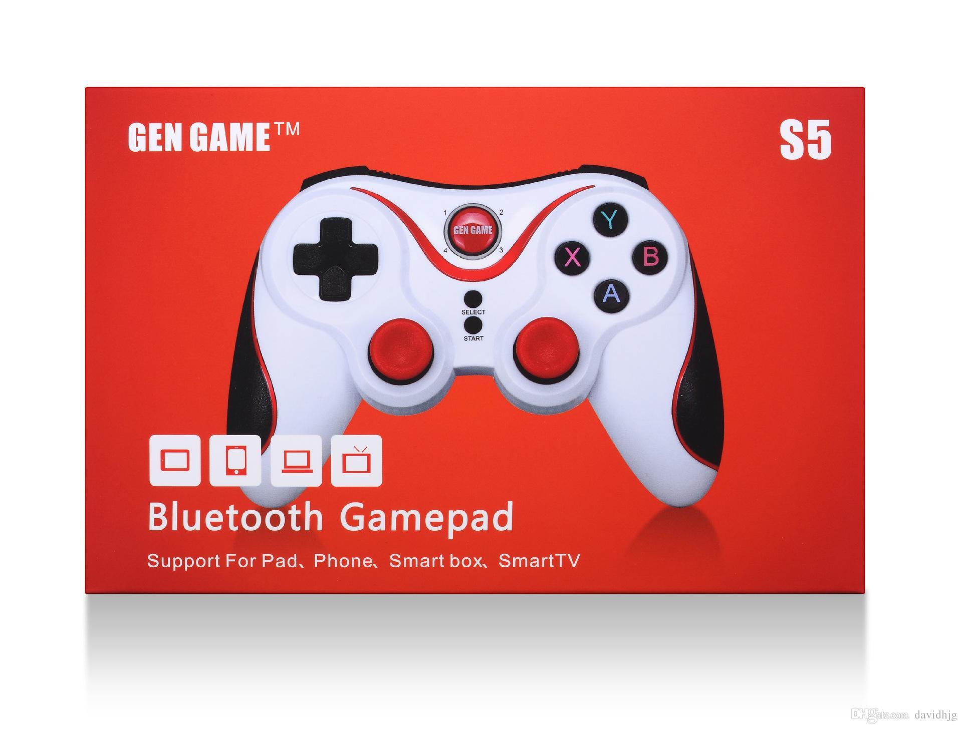 Gen Game S5 무선 블루투스 게임 패드 게임 컨트롤러 핸들 리모트 조이스틱 안드로이드 태블릿 콘솔 SmartPhone 들어 왔어.