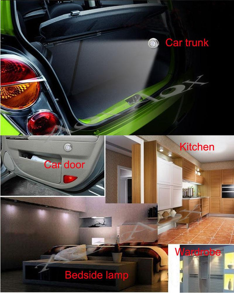 Searching For Exquisite Material And Find Quality 4 LED Stick Tap Touch  Night Light Cordless Battery Powered Cabinet Car Trunk Closet Sense Lamp  Home ...