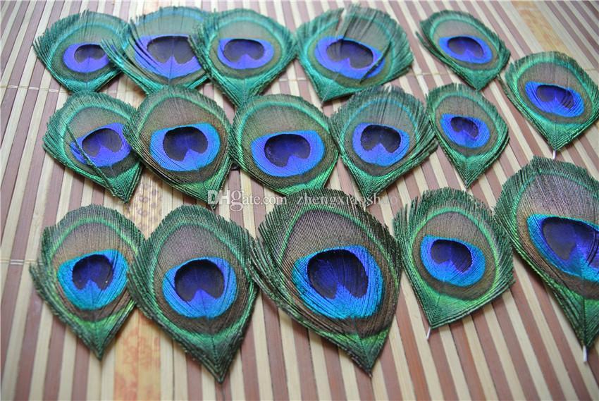 Envío al por mayor-Libre 100Pcs / lot Alta calidad Trimed PEACOCK pluma de ojo para el arte