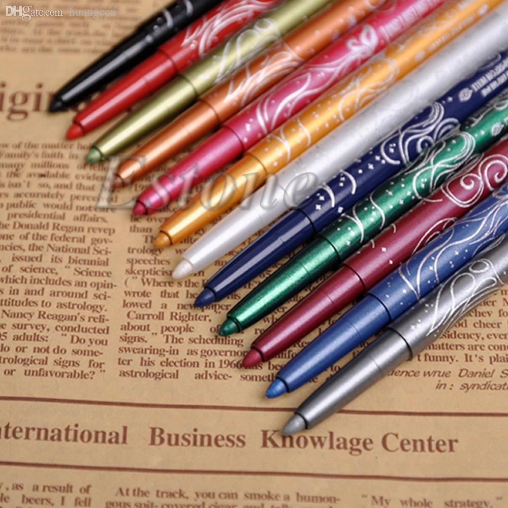 Wholesale-B39 أحدث 1 مجموعة المهنية ظلال العيون الشفة اينر كحل قلم رصاص ماكياج 12 لون الشحن المجاني