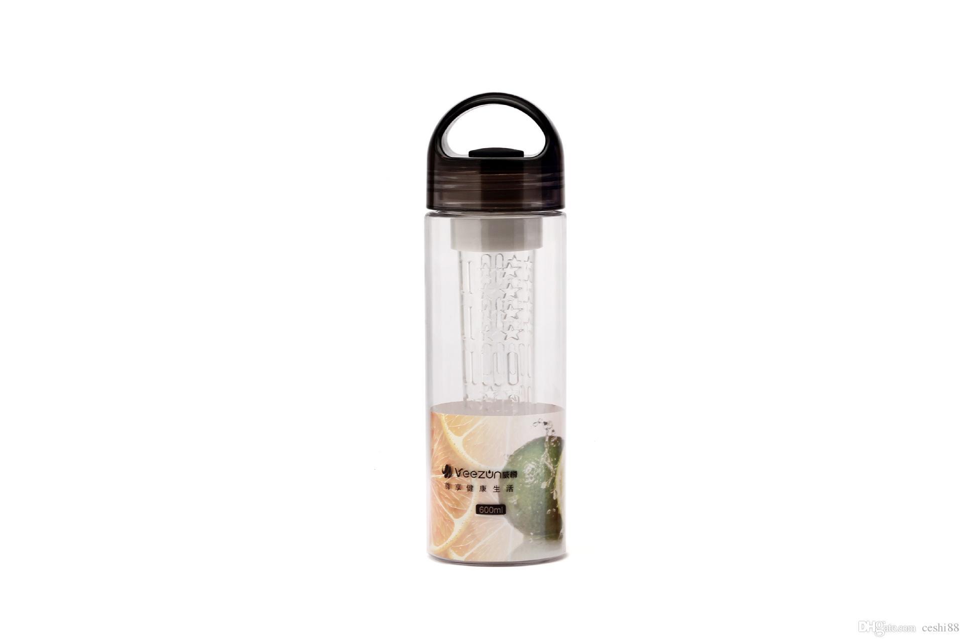 Bottiglia di acqua per infusi di frutta all'ingrosso - # 1 Bottiglia di sport di infusione di frutta migliori - Grande 32oz - Coperchio di Flip Top - Fatto di Durable Eastman Tritan