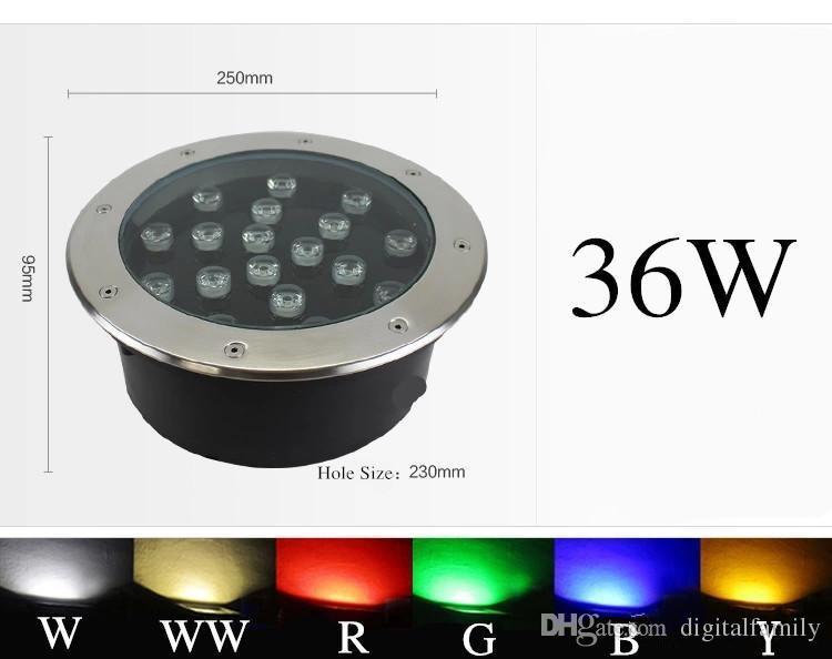 Красивая сцена 3W 6W 10W 12W 14W 18W 24W 36W светодиодный подземный свет светодиодные прожекторы AC85-265V Waterpoof led Используется в квадрате бесплатная доставка