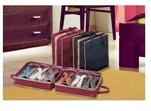 Organizzatore portatile portatile non-ondulato di alta qualità Organizer di viaggio, sacchetto di stoccaggio della scarpa pieghevole, 10pcs / lot Trasporto libero