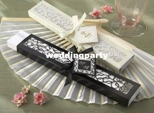 50 قطع الحرير مروحة اليد الفاخرة في أنيقة هدية مربع الزفاف دش الزفاف الإحسان حزب هدية