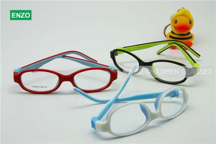 子供の光学眼鏡サイズ46mmネジなしベンダブル、子供メガネフレーム、十代のメガネ、TR90シリコーンセーフフレキシブルフレーム