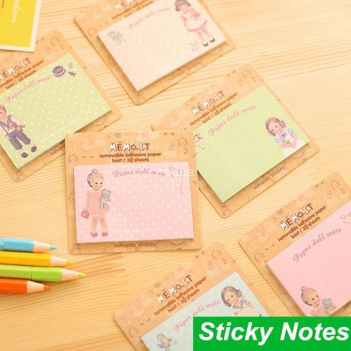 10 pcs/Lot Memo it sticky notes Paper doll mate Removable adhesive paper Gift cute stationery material School supplies 6651