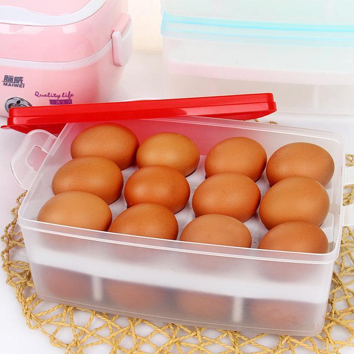 Scatola di immagazzinaggio portatile di frigorifero dell'uovo della cucina scatola di plastica portatile doppio strato TY1133