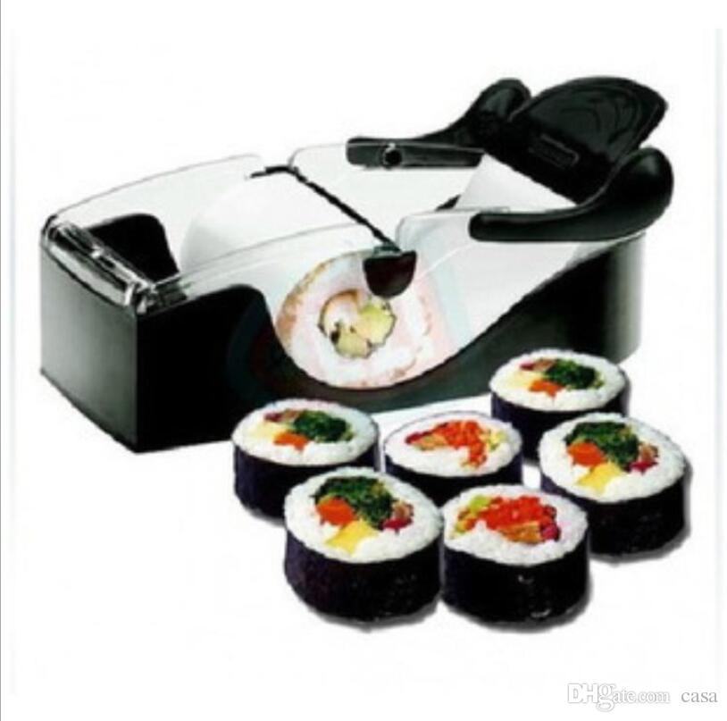 SuShi Criador Mais Novo DIY Sushi Rolo Cortador Perfeito Máquina Rolo Mágico Fabricante De Moldes De Arroz Cozinha Acessórios Ferramentas Gadgets 50 Pcs