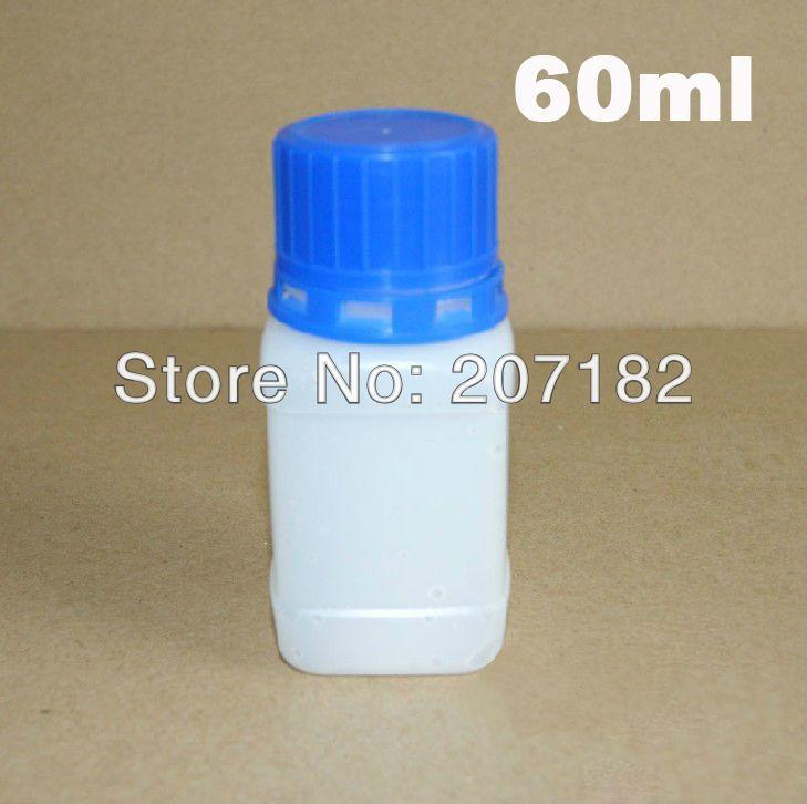 100pcs / lot 60ml / 60g سميكة غطاء زجاجة الأزرق العبث ، زجاجة من البلاستيك ، زجاجة السائل ، زجاجة أخذ العينات