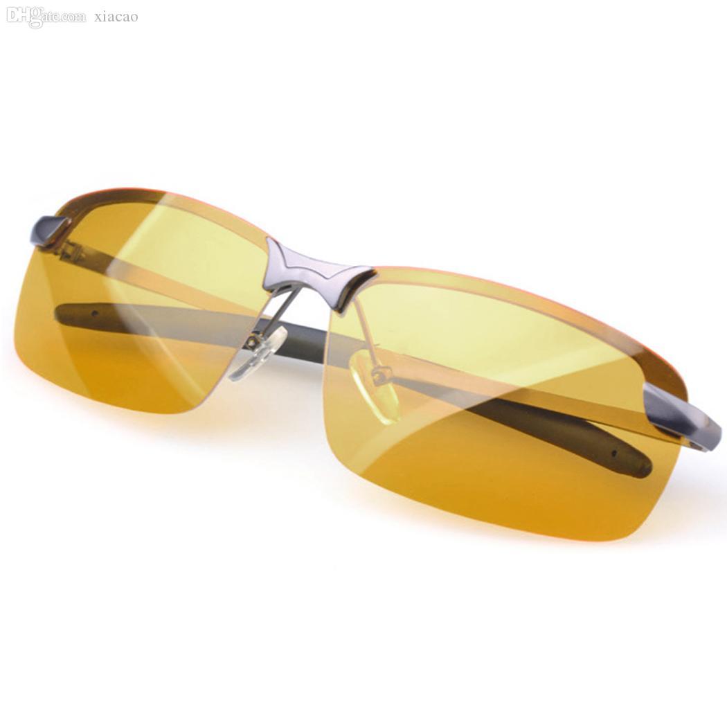 도매 -2016 핫 브랜드 새로운 야간 운전 안경 안티 글레어 비전 드라이버 안전 스포츠 선글라스 블랙 / 그레이 드롭 배송 31