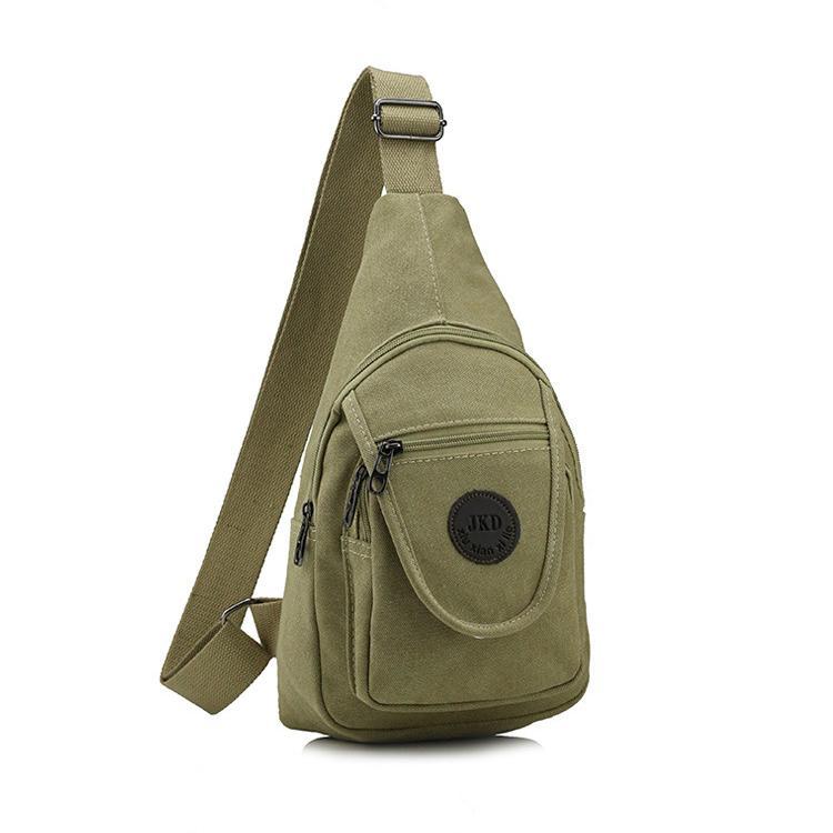 1PC 새로운 스타일 남성 캐주얼 캔버스 가슴 가방 단일 어깨 불균형 슬링 팩 크로스 바디 가방 높은 품질 남성 가방