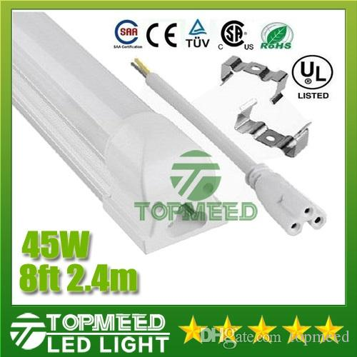 CE UL統合2.4M 8FT T8 45W LEDチューブライト4800LM 85-265V LED照明蛍光管ランプ電球+保証3YEARS X30
