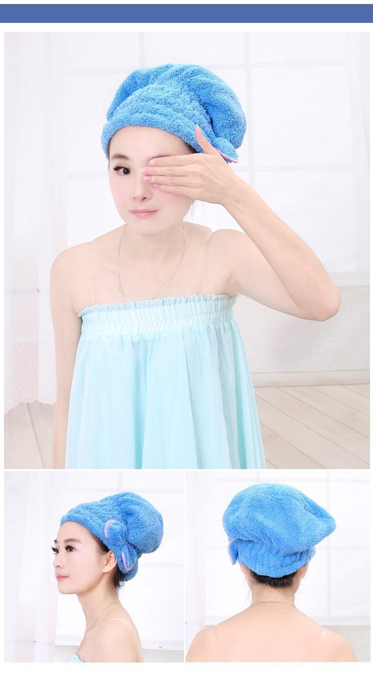 Hair Drying Towel Hat Cap
