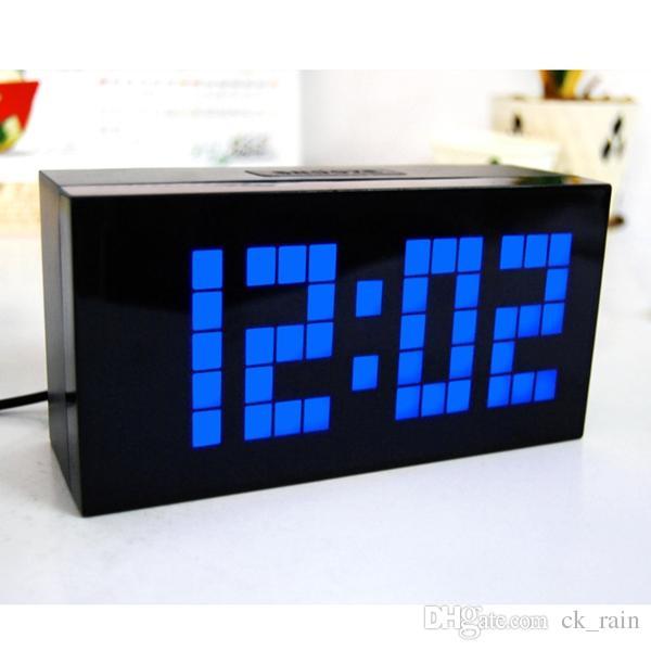 큰 글꼴 LED 시계 원래 고전적인 스누즈 알람 시계 홈 장식 Led 디스플레이 테이블 시계 실내 전자 디지털 시계 (3pcs)