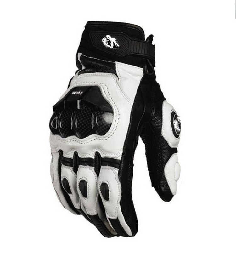 2015 modelleri Fransa Furygan AFS karbon fiber siyah / beyaz boyut M L XL ile 6 ila 10 üst yarış eldiven motosiklet eldiven deri eldiven