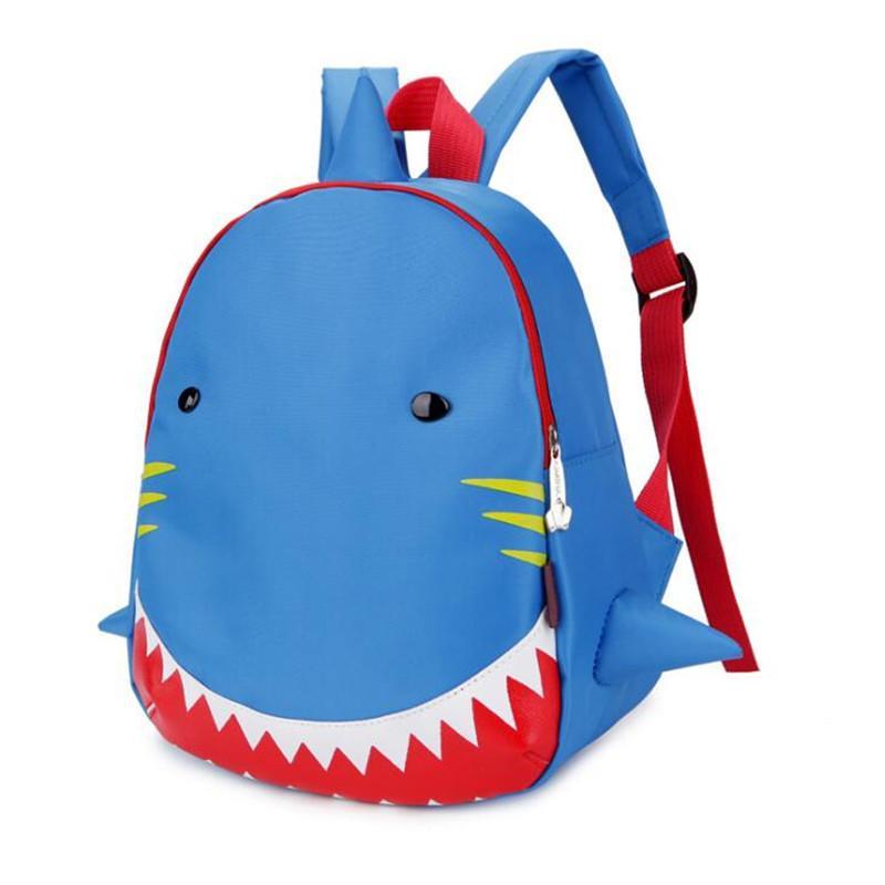 Cartoon Shark Backpack Blue