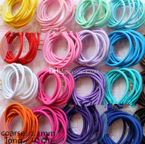 100 pz / lotto 20 colori Baby Girl Bambini Bambini Tiny Accessori per capelli Band Capelli Elastici Ties Ponytail Holder