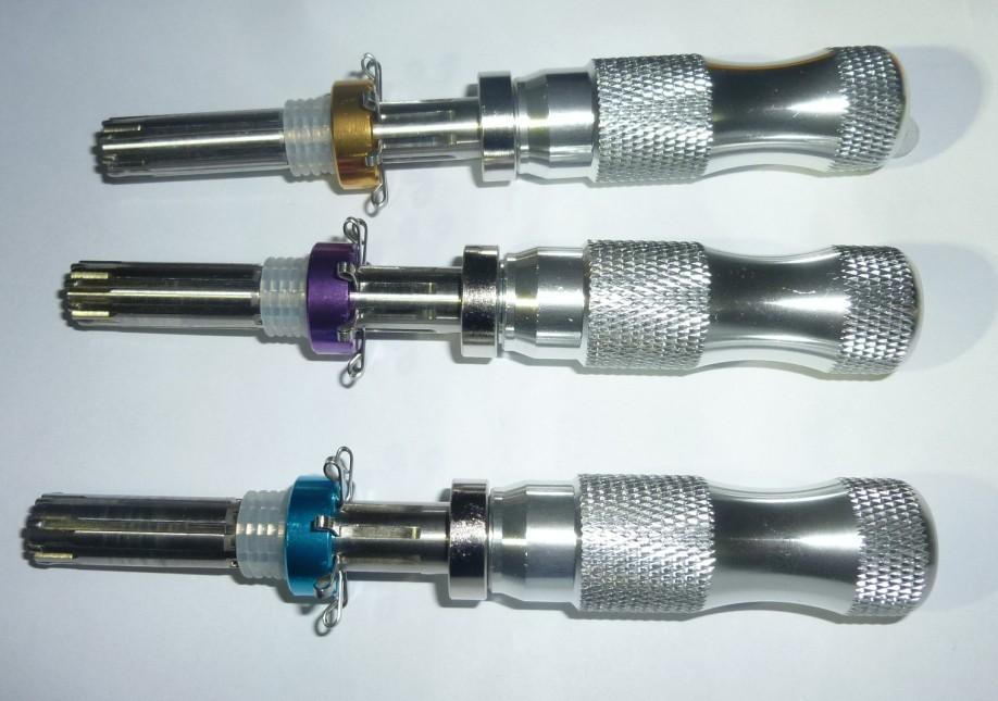 3Pcs HUK Tubular Cylinder 7 Pin Lock Pick Tool Locksmith Lock Pick Set
