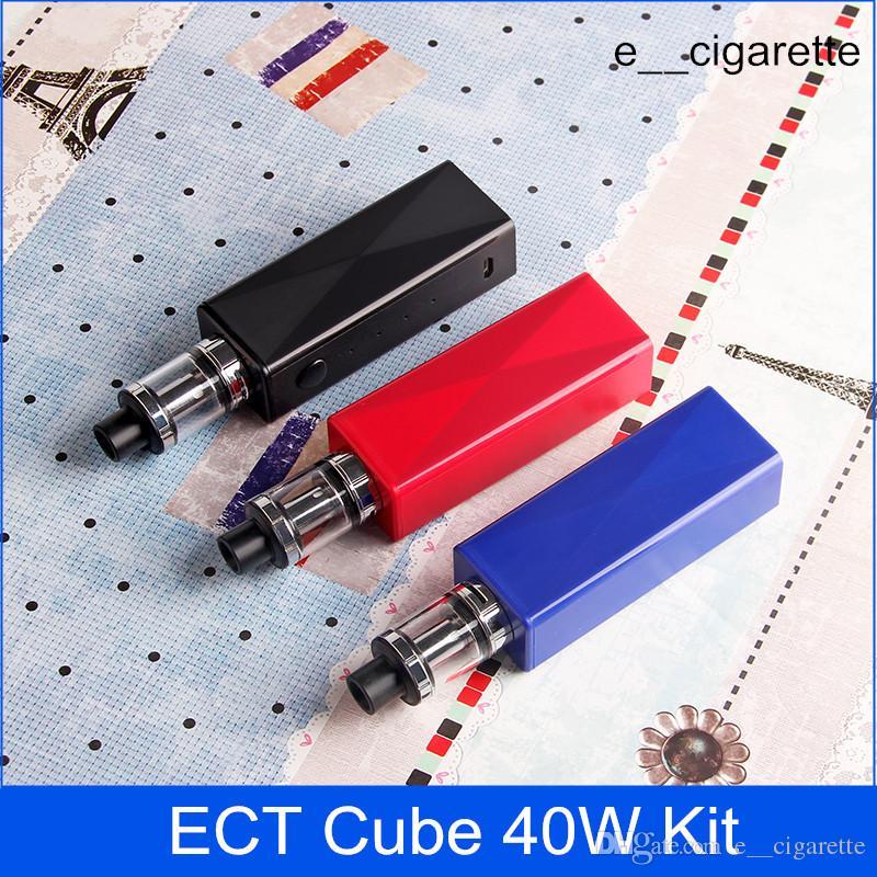 Pil 2200mAh 0.3ohm vape mod elektronik sigara buharlaştırıcı içinde ECT küp 40W kiti otantik kutu mod e sigara yaramaz cüce oluşturmak
