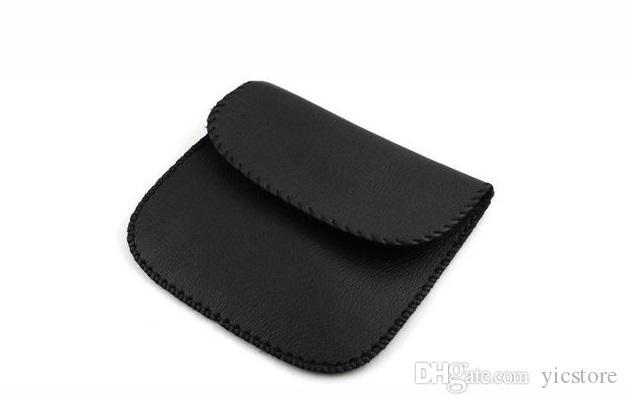 500pcs 많은 가죽 파우치 운반 케이스 가방 헤드폰 이어폰에 대 한 usb 케이블 dhl / 페덱스 무료 배송