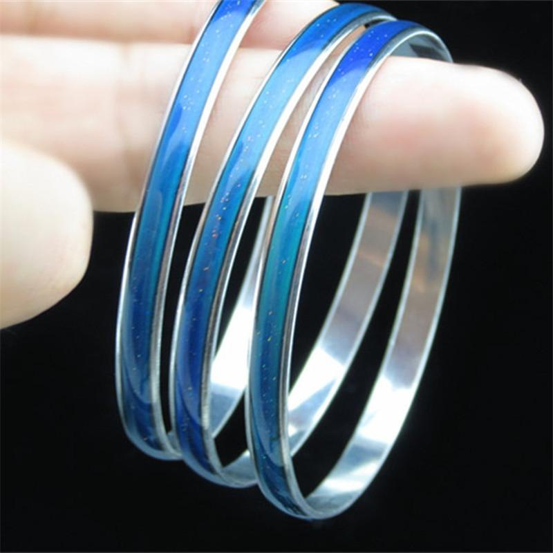 New 2015 Brand Mood Bangle Bracelet for women Different Mood Different Color Creative thermal discoloration jewelry