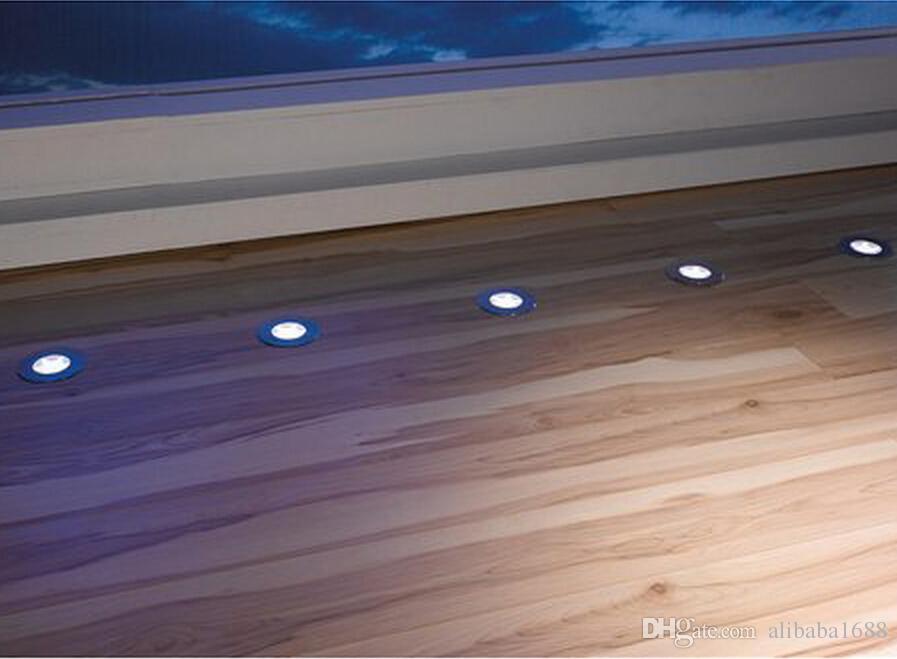 عكس الضوء 9MM رقيقة جدا الفولاذ المقاوم للصدأ أضواء LED سطح السفينة جولة DC12V 0.5W LED بقعة ضوء الكلمة للخارجية حديقة مسار قارب ساحة الإضاءة