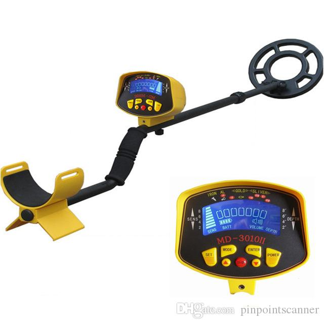 2017 most highly sensitivie metal detector MD-3010II Deep Range Underground Gold Metal Detector MD3010II with free shipping