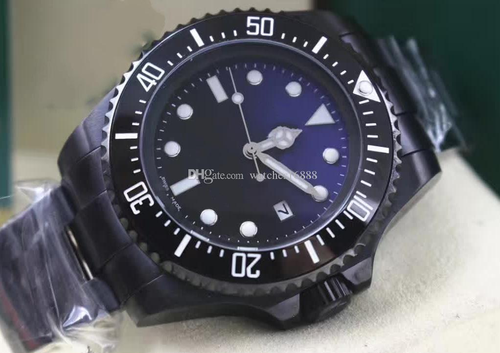 Hot seller Luxury Men's SEA-DWELLER Ceramic Bezel 44mm Stanless Steel Clasp 116660 Automatic Mens Watches Men's Sport Casual Watches