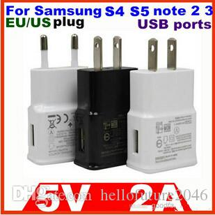 2A US AC 삼성 벽면 충전기 삼성 N7100 주 3 for iphone ipad 모든 스마트 폰 고품질 DHL에 의해 무료 배송 1000pcs