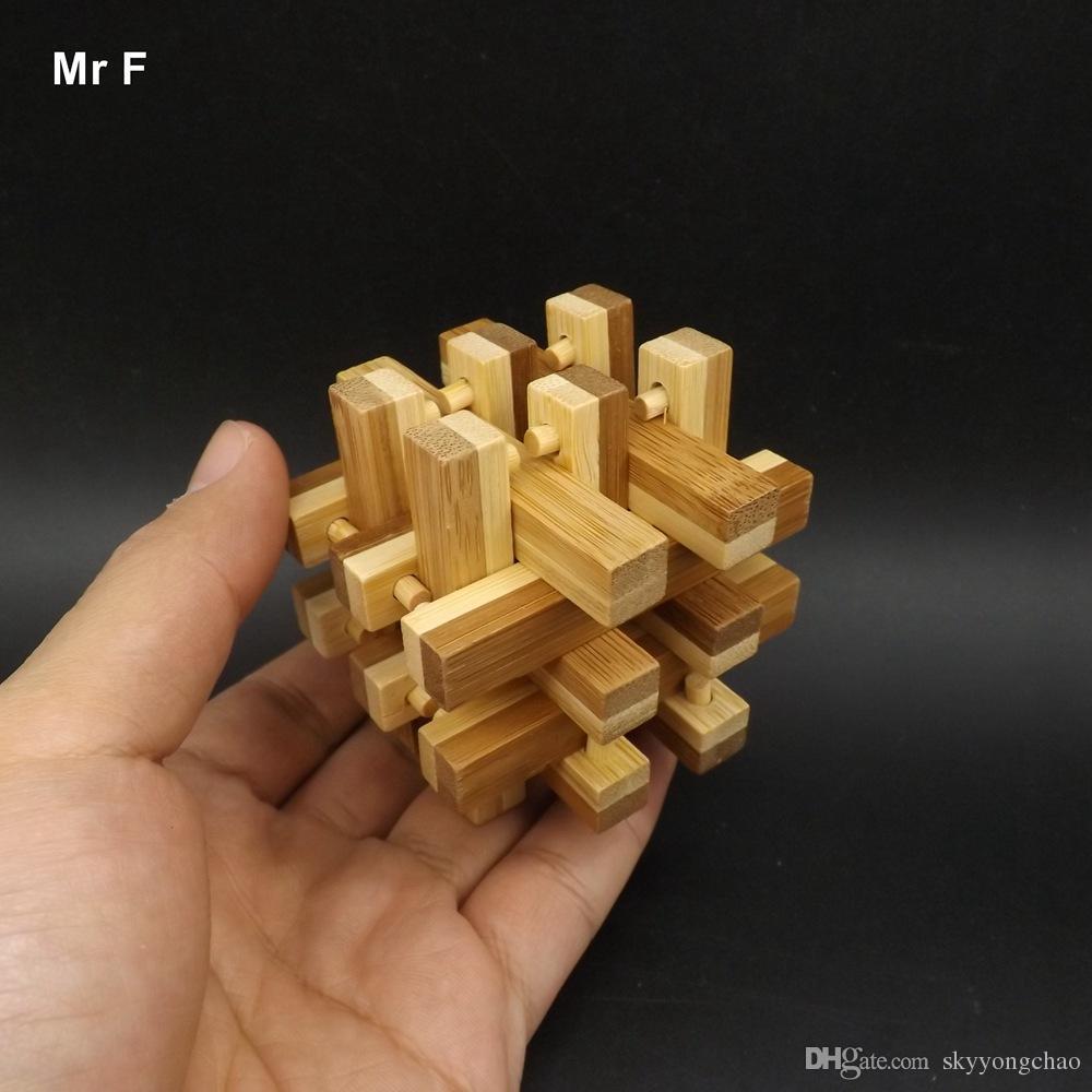 متعة 3D 18 عمود الخيزران فتح لغز لعبة مضحكة الكلاسيكية للأطفال تدريس الدعامة أداة تعليمية