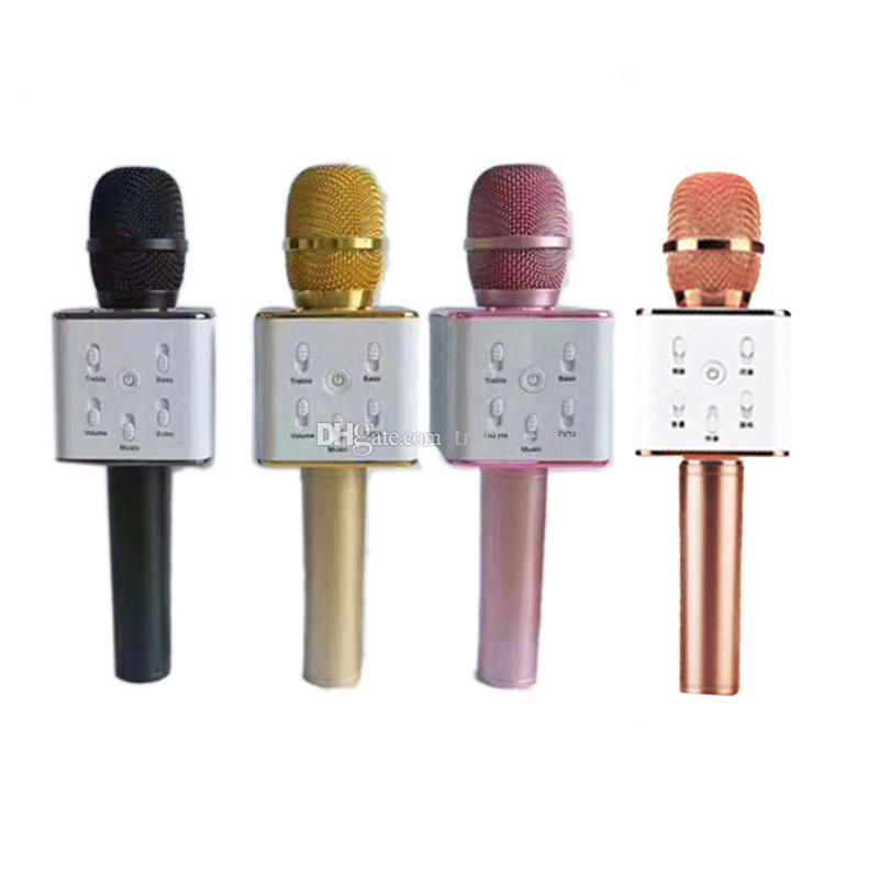 Q7 Bluetooth Mikrofon Tragbare Handheld Wireless KTV Karaoke Player Lautsprecher mit MIC Lautsprecher für iPhone 7 Plus Samsung S7 Edge