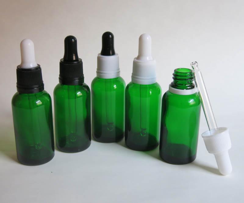 도매, 드로퍼, 화장품 포장 10 개 30ML 유리 에센셜 오일 병, 녹색 dropper 유리 병