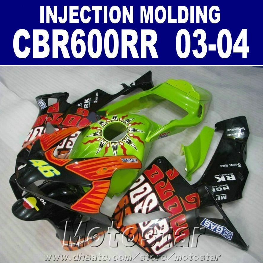 HONDA CBR 600RR kaporta kiti Enjeksiyon Kalıplama özelleştirmek 2003 2004 cbr600rr 03 04 motosiklet marangozluğu set AYCS