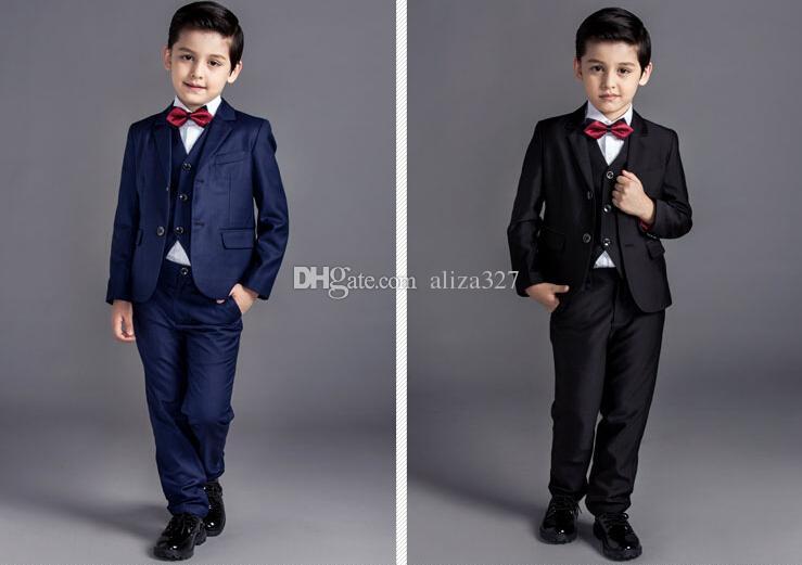 Moda nuovo ragazzino abiti di colore puro ragazzo adatta occasione formale ragazzi vestiti per la vendita calda di nozze (giacca + pantaloni + gilet)