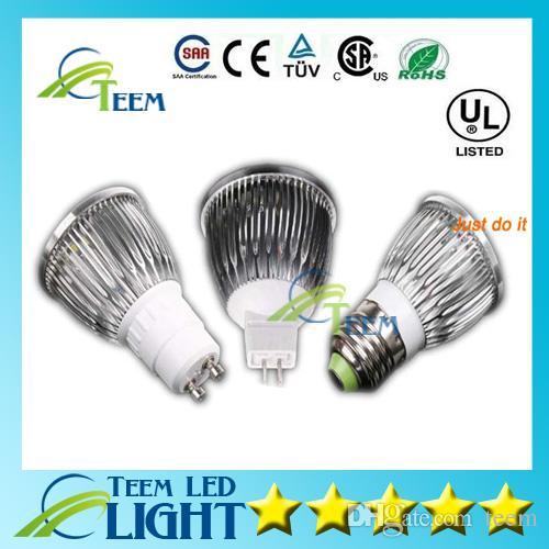 CE Dimmable CREE Conduziu a Lâmpada 9 W 12 W 15 W MR16 12 V GU10 E27 B22 E14 110-240 V Levou spot Light Spotlight lâmpada de iluminação downlight