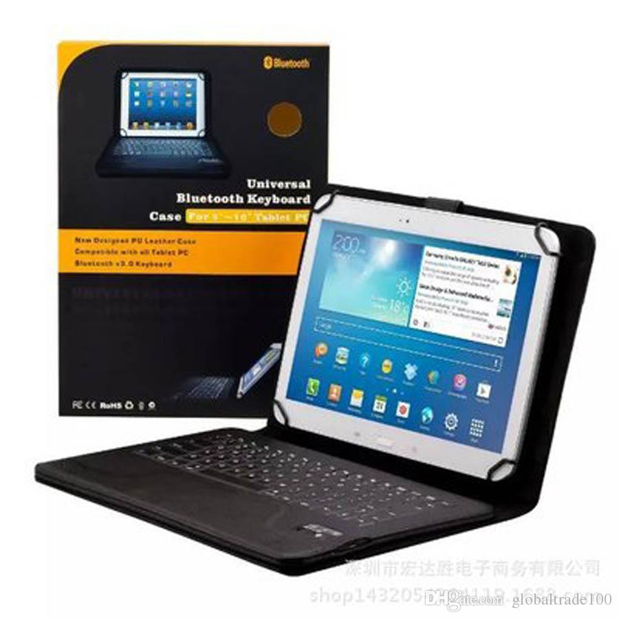 """Универсальный Беспроводной Bluetooth клавиатура силиконовый чехол для iPad воздуха Samsung Galaxy 10,1-дюймовый Tab 4 7 """" 8 """" 9 """" дюймовый планшет чехол"""
