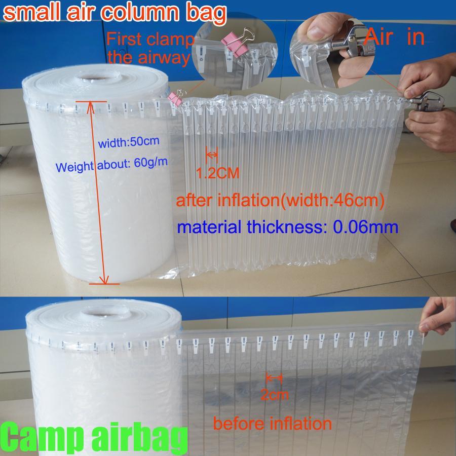50 см широкий рулон надувного воздуха сепарационные мешок небольшой номер столбца(2см) буфер мешок защитить ваш продукт хрупких грузов