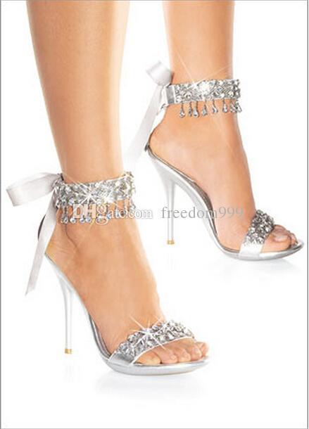 Lovely New Fashion Wedding Bridal Shoes Womenu0027s Sandals Rhinestone Shoes Wedding  Shoes