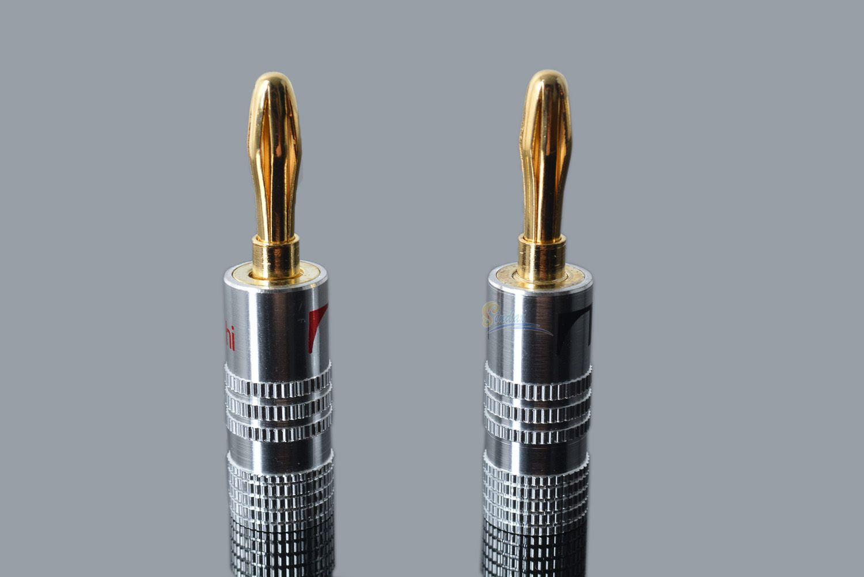 2018 4mm Banana Plug For Video Speaker Copper 4mm Banana Plug Black ...