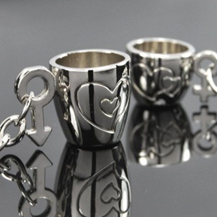 كؤوس سلاسل المفاتيح عشاق الفضة مطلي الحب مفتاح سلسلة هدايا تذكارية هدية عيد الحب